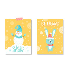 let it snow and be merry on vector image
