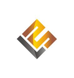 Letter l m modern vector