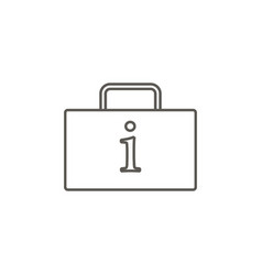 luggage information icon simple element from map vector image