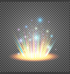 magic fantasy portal futuristic teleport light vector image