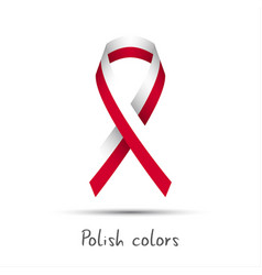 Modern colored ribbon with the polish colors vector