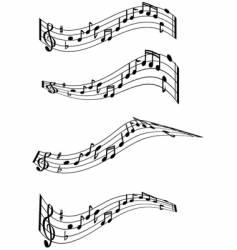Music note swirls vector