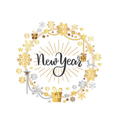 new year lettering hand drawn text merry christmas vector image