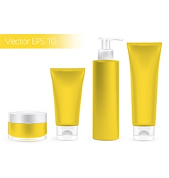 Packaging containers yellow color vector