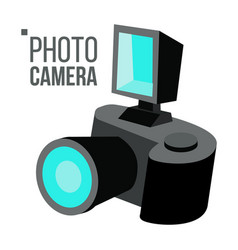 photo camera simple icon isolated flat vector image