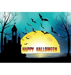 poster happy halloween vector image