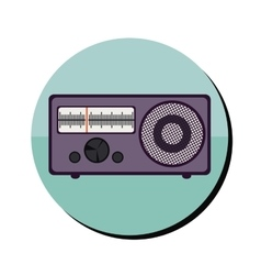 Retro radio icon vector