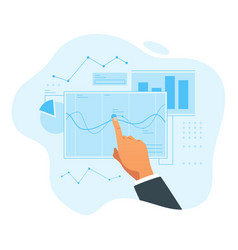 sale increase concept vector image