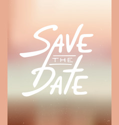 Save date invite card template with modern vector