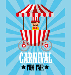 sellerman food booth retro carnival fun fair vector image