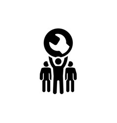 Service support icon flat design vector