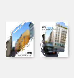 set blurred urban backgrounds collection vector image