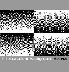 Set of pixel technology gradient backgrounds vector