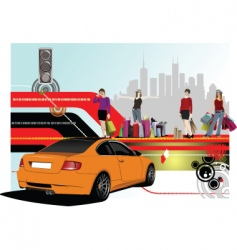 shopping and luxury vector image