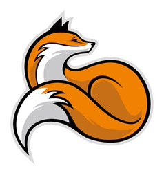 simple fox vector image