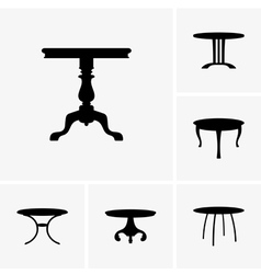 Small tables vector image
