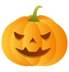 Smiling carved pumpkin vector
