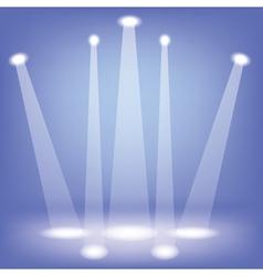 Stage spotlights vector image
