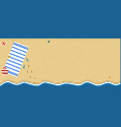 Summer vacation background flip flops sea coast vector