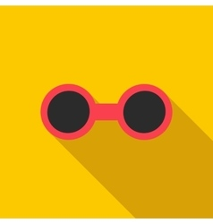 Sunglasses icon flat style vector image