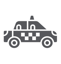 taxi glyph icon transportation and auto cab sign vector image