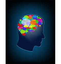 The concept of brain full of ideas vector