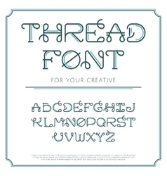 Thread line font vector image