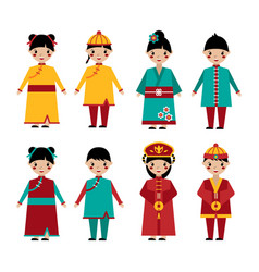 traditional chinese holiday clothing set vector image