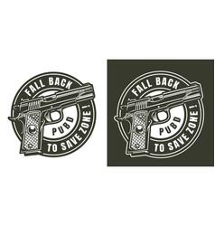 vintage military round logo vector image