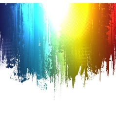 gradient paint splashes background vector image vector image