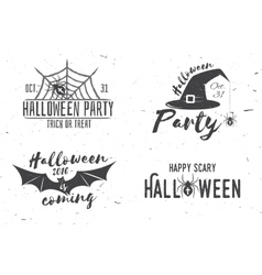 Happy scary Halloween party concept vector image