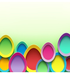 Stylish background with Easter egg vector image