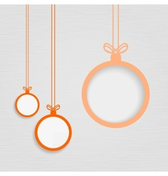 Xmas balls on textured paper vector image vector image
