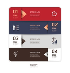 Business step up options origami style vector image vector image