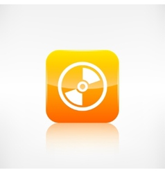 Compact disk icon Application button vector image