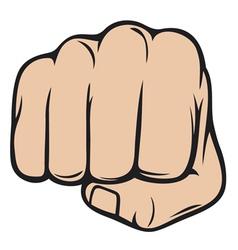 fist punching human hand punching vector image