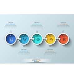 Flat connection timeline infographic design vector image