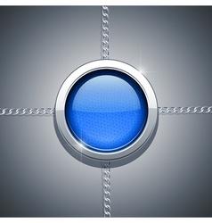 metallic ring on chain vector image