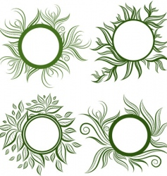 vector set of leafs frames vector image