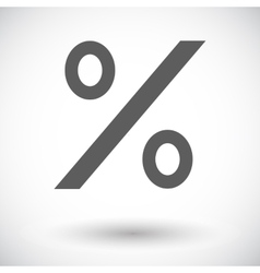 Icon percent sign 2 vector image vector image