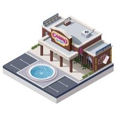 isometric casino building vector image