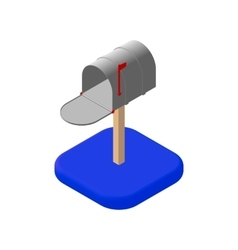Isometric mail icons 3D Pictograms mailbox email vector image