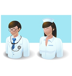 People Icons Doctor and Nurse vector image vector image