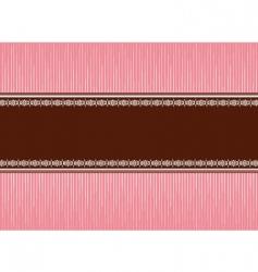 pink brown vector image