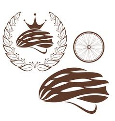 Cycling cycling helmet vector