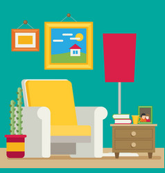 flat style workplace accesories vector image