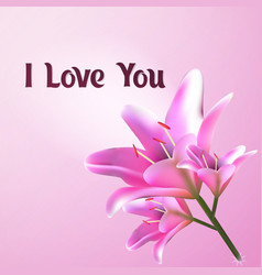 i love you greeting card postcard template with vector image