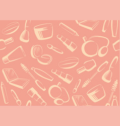 seamless cosmetics background vector image vector image