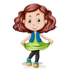 a brunette hair clour girl character vector image