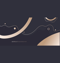 Abstract elegant banner web template gold vector